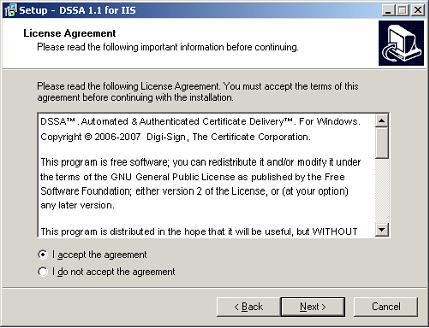 DSSA on IIS | Digi-Sign, The Certificate Corporation